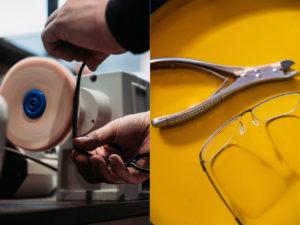 appareils de réglages d'ajustement de lunettes