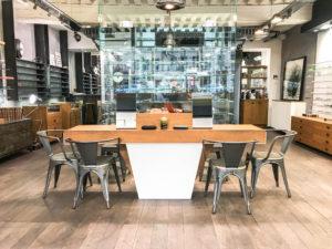 accueil central du magasin meilleur opticien lunetier à Lyon