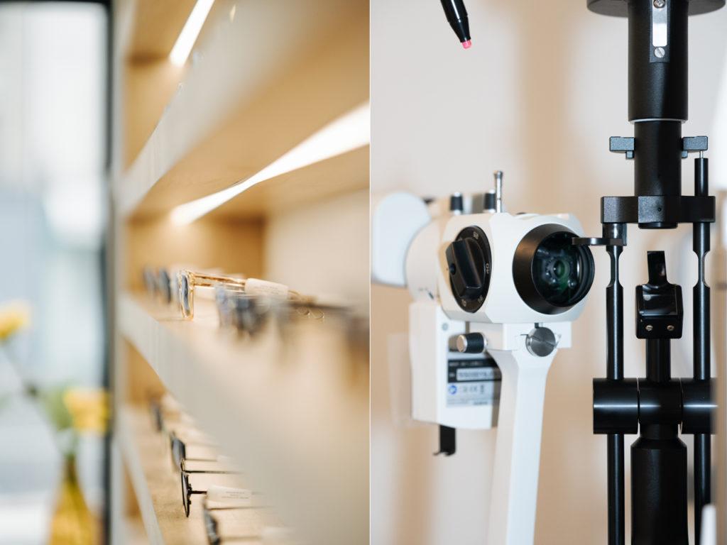 etagere et presentoir lunettes Opticien Le Labo à Fontainebleau