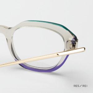 demi paire de lunettes createur de lunettes Res Rei modele Amber