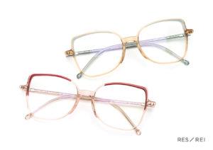 Paires de lunettes colorées createur de lunettes Res Rei modele Hany Panky
