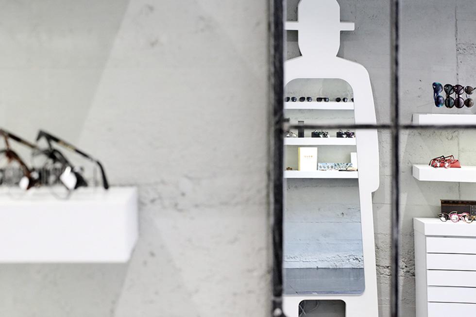 A Annecy, vue extérieure de l'opticien Blandine et ses marques de lunette