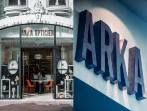 FAcade de la boutique arka optique et enseigne