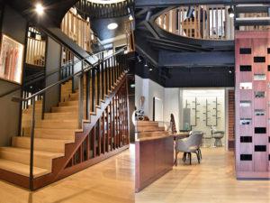 Début d'escalier et intérieur du Lunetier Martel Clermont FErrand