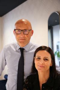 portrait de Marie et Franck Opticien lunetier à Annecy