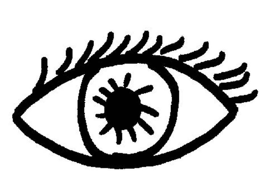 Dessin d'opticien un oeil de face