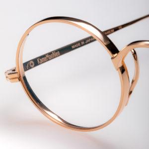 detail de lunette couleur cuivre Kame Mannen