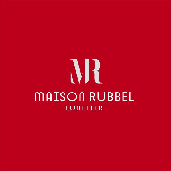 Logo rouge Opticien Lunetier Bordeaux Maison Rubbel
