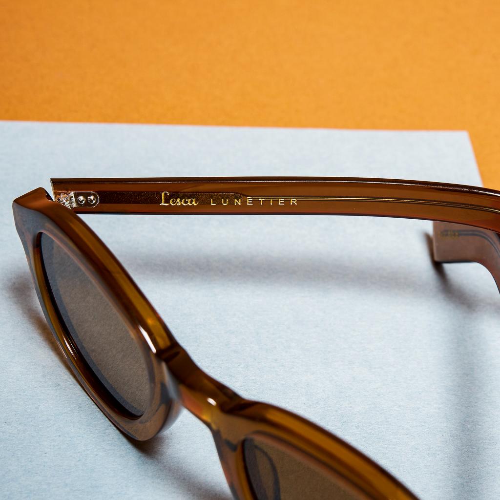 Eye Like Lunetier marque Lesca P43 Cognac