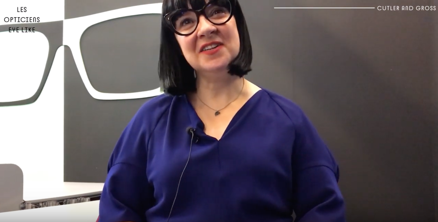 Marie Wilkinson, designer de la marque Cutler and Gross au Silmo 2019