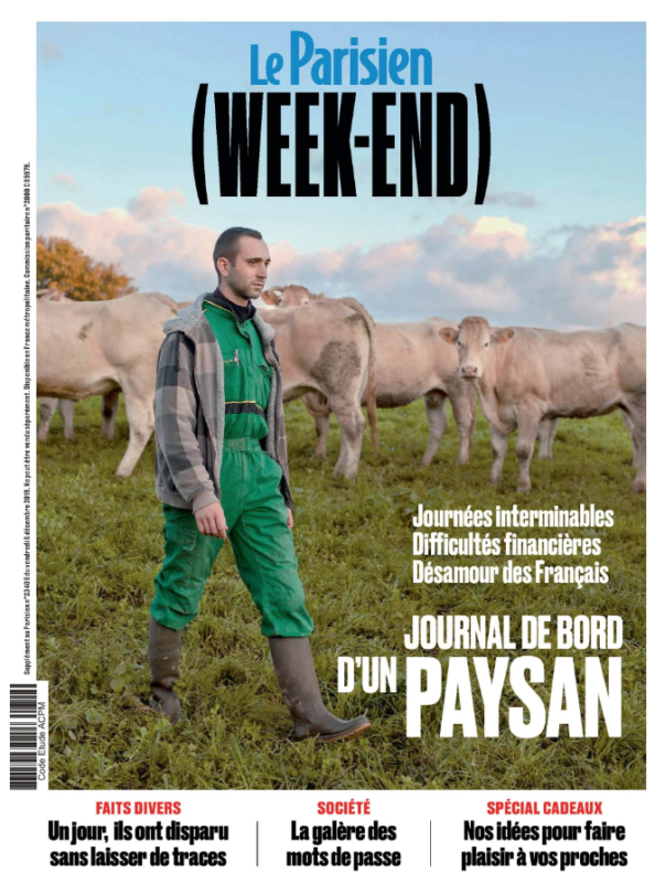 Couverture LE PARISIEN WEEKEND 6 DECEMBRE 2019 PARU