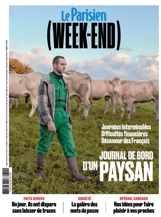 Couverture LE PARISIEN WEEKEND 6 DECEMBRE 2019 PARU