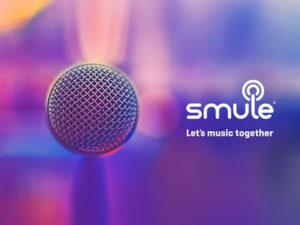 page du site smule let's music together