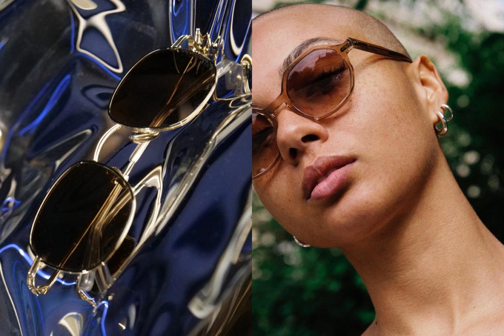 Amaury visuel une paire de lunettes de soleil et une femme avec des lunettes de soleil Lunettes de marques